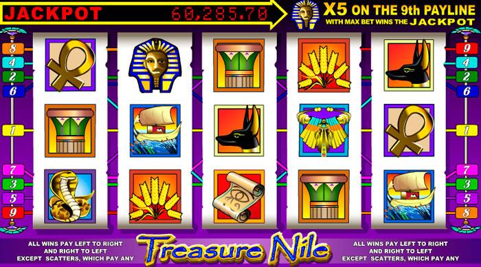 Reseña del Juego de Tragamonedas Treasure Nile